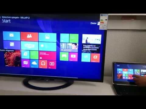 how to connect pc to tv wirelessly windows 8