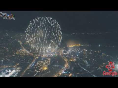 Новогодний фейерверк - Грузия - Тбилиси 2018 / New Year's Eve Firework - Tbilisi - Georgia