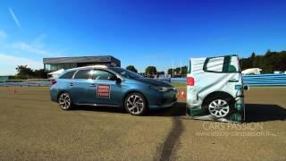 Test drive Toyota Safety Sense Auris, Aygo - système sécurité précollision freinage d'urgence