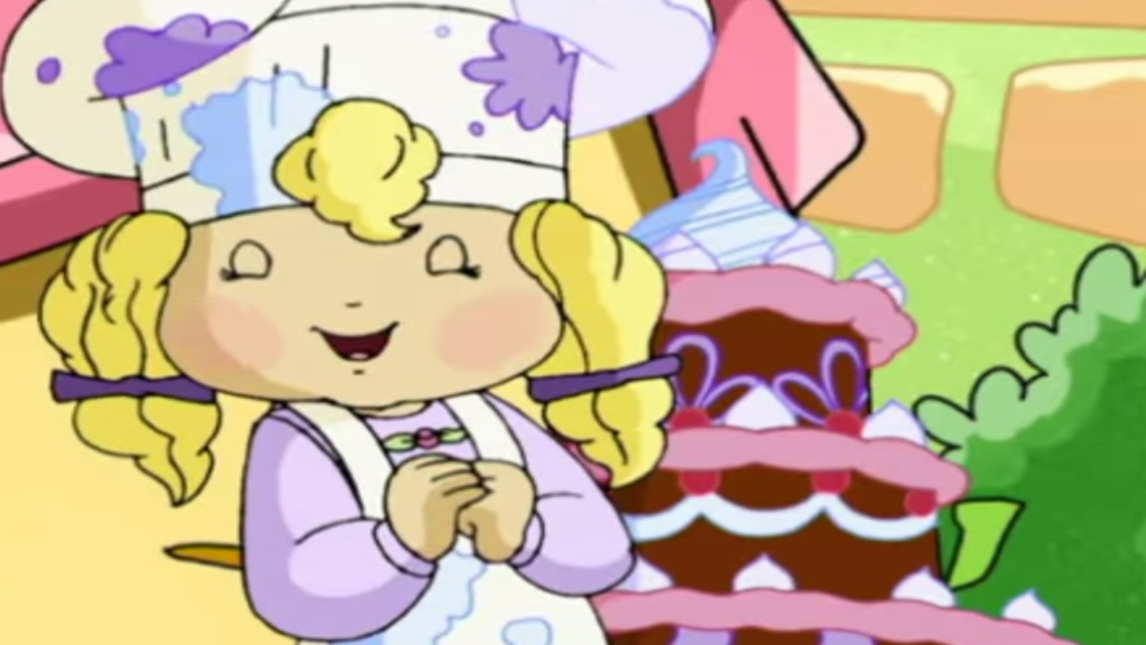 Strawberry Shortcake Angel Cake In The Outfield