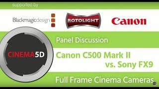Large Format Cinema Cameras - Canon C500 mk II & Sony FX9 - Hans v. Sonntag & Philip Bloom