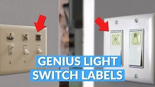 Light Switch Labels Help Identify What Switch Is For What