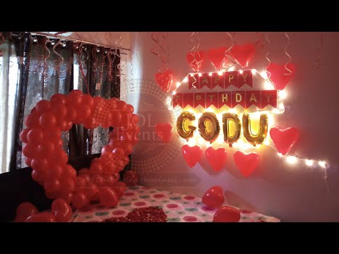 Romantic Room Decoration Ideas for Birthday Surprise, Anniversary, First Night, Proposal