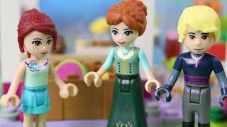 Anna i Kristoff na Zakupach | Lego Frozen & Lego Friends & Lego City | Bajki dla dzieci