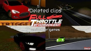 Roblox Full Throttle Moments - Deleted Clips (Plus one from VS)