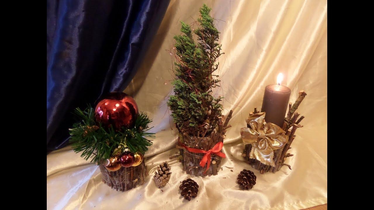 DIY Tolle HerbstWinter  WeihnachtsDEKO aus Holz