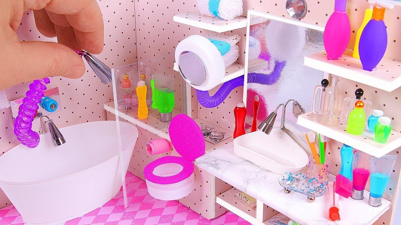 Diy Miniature Dollhouse Bathroom Part I