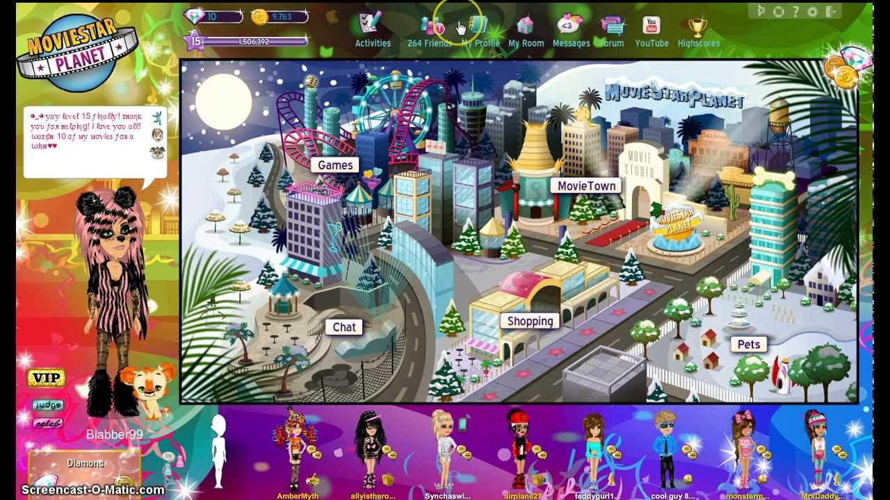 Moviestarplanet- How to be Rich & Famous - YouTube