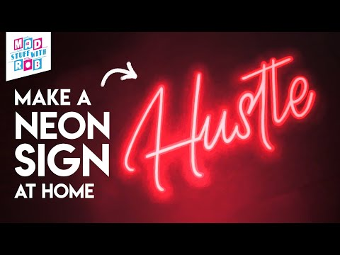 How To Make A NEON SIGN At Home | NEON LIGHTS | In Hindi | DIY