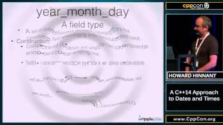"CppCon 2015: Howard Hinnant ""A C++14 approach to dates and times"""