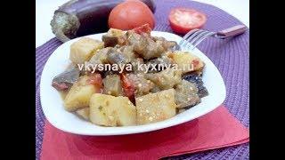 Вкусное и полезное овощное рагу с мясом, тушеное на сковороде