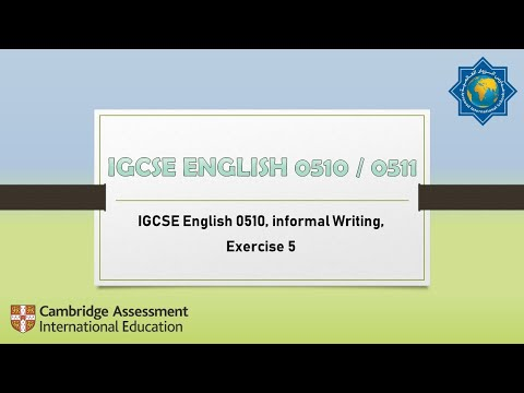 Exercise 6 Informal Letter Writing HD