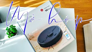 Mở hộp robot hút bụi lau nhà xiaomi roborock S6 Pure Phiên bản quốc tế