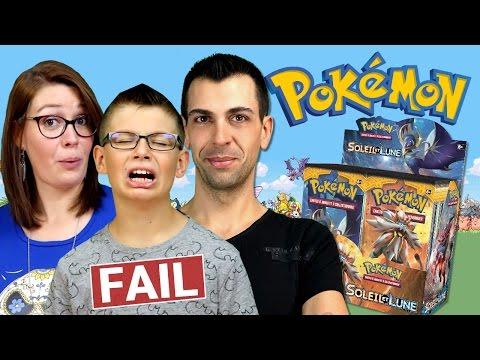 Ouverture Display Pokémon SOLEIL ET LUNE (1/2) MEGA FAIL DE LUCAS ! Family Geek