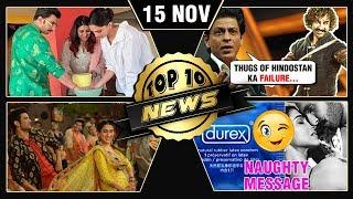 Deepika Ranveer Marriage PICS, SRK On Aamir, Sunny Leone New Film & More | Top 10 News