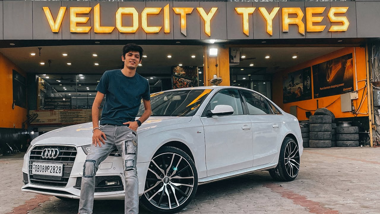 Modified AUDI A4 with 20inch ALLOY WHEELS !! Worth Rs 1Lac.. 😍😍