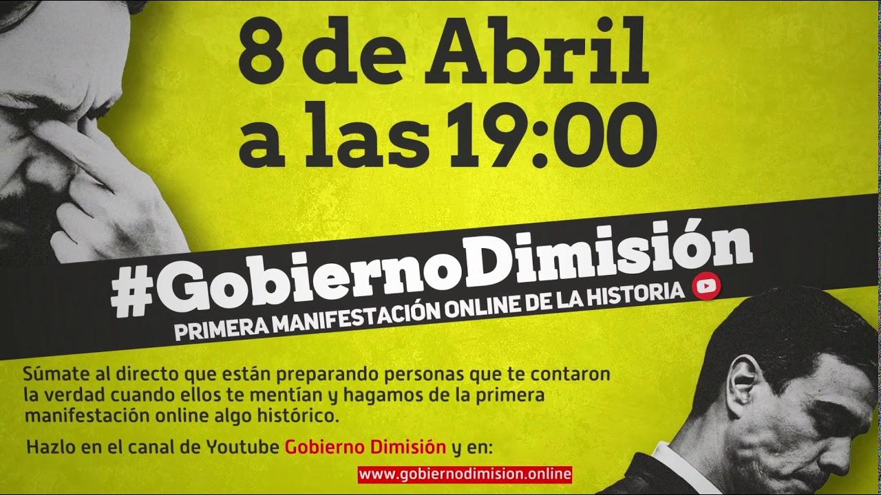 #GobiernoDimisión 8 de abril a las 19:00
