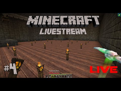 BUILDING THE COLLECTION AREA! | Minecraft Livestream #4