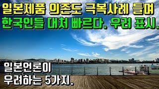 한국의 일본제품 의존도 극복사례 들며 한국인들 대처 빠르다고 우려 표시. 일본 언론이 우려하는 5가지.