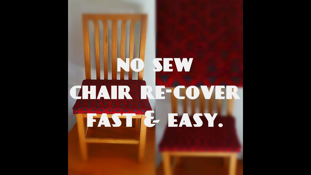 Lovely Fast And Simple Chair Re Cover: Easy NO SEW   YouTube