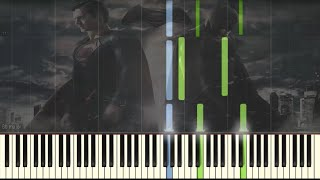 Batman vs Superman - Beautiful Lie - Easy Piano tutorial (Synthesia)