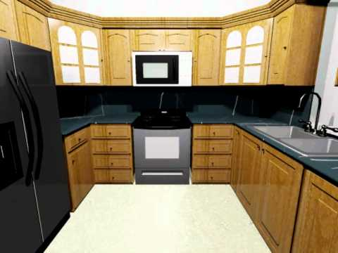 Remodeling Your Kitchen Autocad Movie And 3d Presentation Youtube