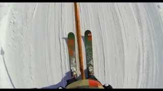 GoPro cупер спуск на лыжах