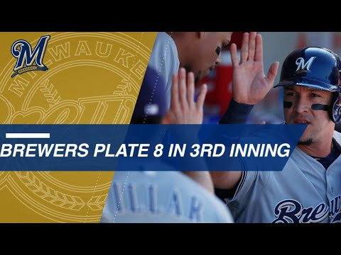 Brewers come alive for eight runs in the 3rd inning