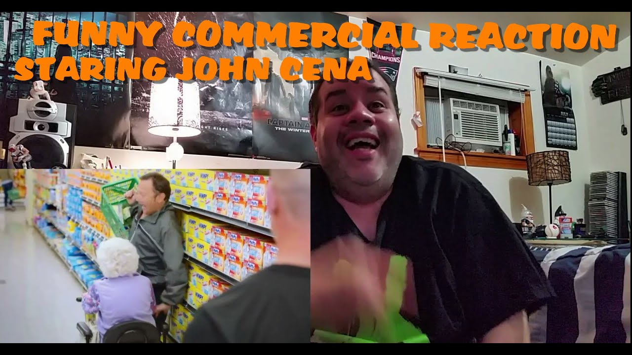 John Cena Hefty Wimpy Ultra Strong Garbage Bag Commercial Reaction