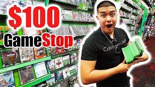 $100 Gamestop Challenge!!