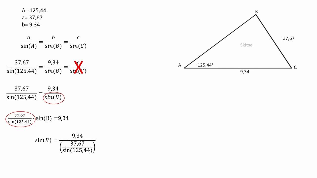 Trigonometri - vilkårlige trekanter - sinusrelationerne