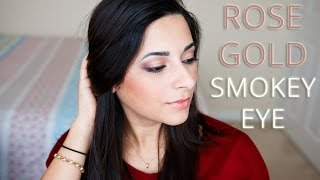 ad   how to rose gold smokey eye tutorial with le beauty girl