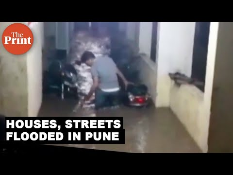 Houses, streets flooded in Pune due to heavy rains