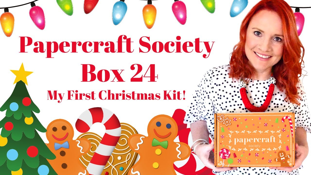 ❤️ Check out my First Christmas Kit! 🎄Papercraft Society Box 24