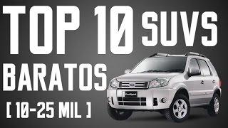 TOP 10 SUV'S USADOS MAIS BARATOS DO BRASIL (R$10-25 MIL) | Canal KMBR