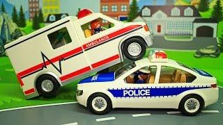 Мультик - Скорая помощь Полицейская машина Пожарная машина у видео для детей Кто важнее! Мультфильмы