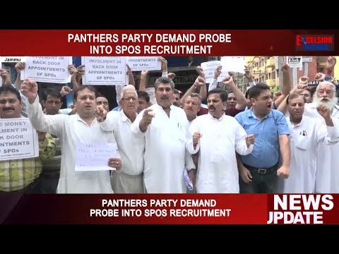 Panthers Party demand probe into SPOs recruitment