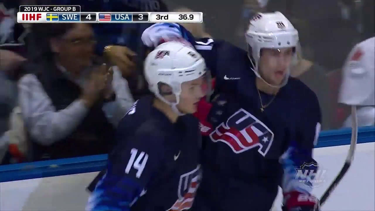 2019 Wjc U S Falls To Sweden 5 4 In Overtime Youtube