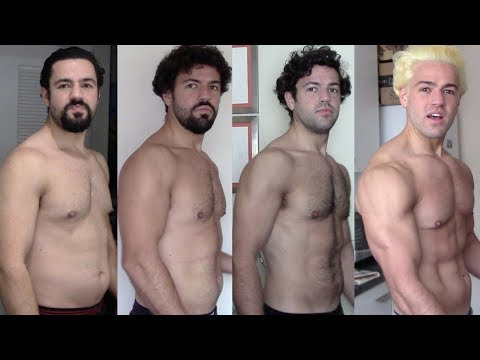 8 Week Weight Loss Results Timelapse (Newspaper proof)