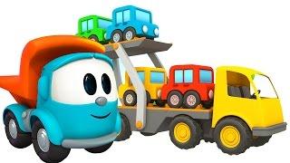 Pequeño Leo - El Remolque - Camiones grandes - Carritos para niños