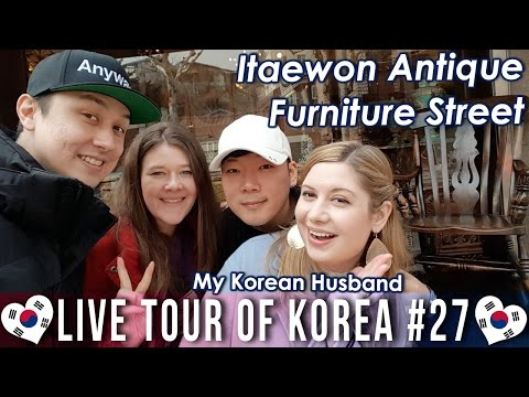 Antique Furniture Street with MyKoreanHusband 이태원 앤틱 가구 거리 - LIVE TOUR OF KOREA #27