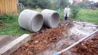 Колодцы, выгребные ямы, траншеи - все для водоснабжения и канализации Вашего участка.(, 2014-12-24T14:37:00.000Z)
