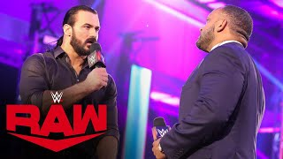 "Drew McIntyre drops MVP with a Claymore on ""The VIP Lounge"": Raw, May 25, 2020"