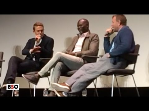 Charlie Hunnam, Djimon Hounsou & Guy Ritchie at King Arthur Movie Q &A