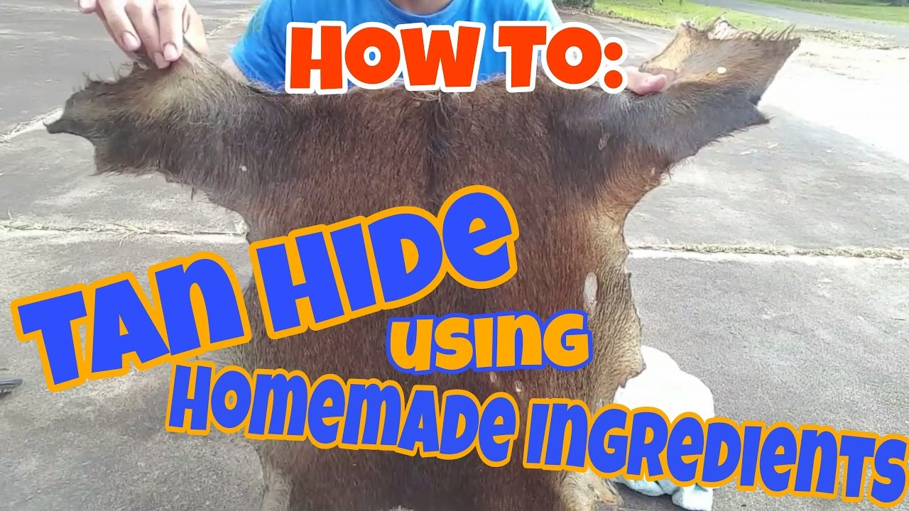 How To | TANNING A HIDE Using Common Household Ingredients