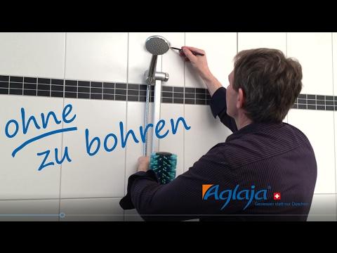 Aglaja Duschsysteme ohne Bohren montieren