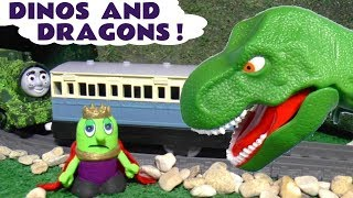 Dinosaurs and Dragons with Thomas and Friends Trains funny Funlings and Hot Wheels Cars TT4U