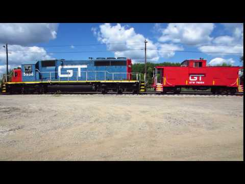 Grand Trunk Western SD40-2 diesel and GTW caboose