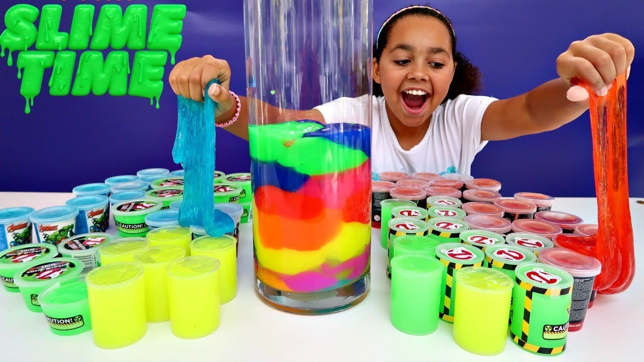 Mixing All My Store Bought Slimes Giant Smoothie Toys