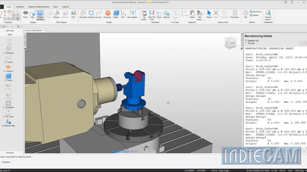 FeatureCAM - Mazak - VTC 800 - 5 Axis Vertical Machining Centre